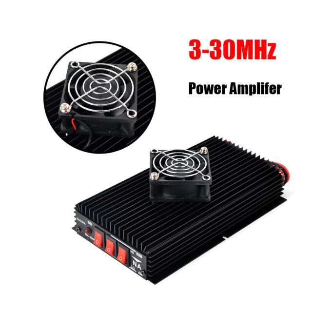 NAGOYA SSB AM FM CW high power HF 3-30MHz Power Amplifier+FAN for portable radio