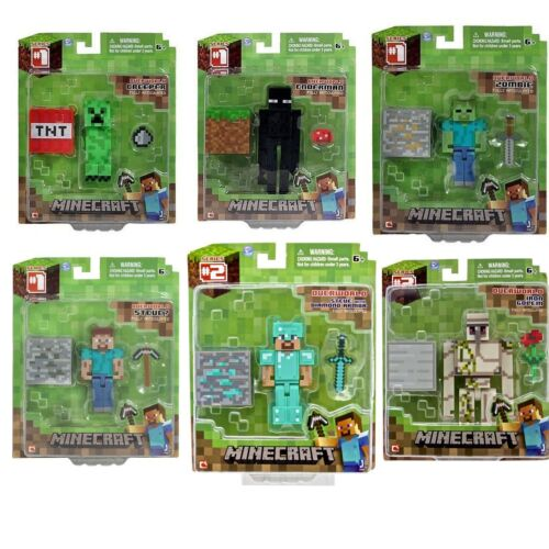 """MINECRAFT 3/"""" Action Figure Toy Steve Zombie Creeper and more!"""
