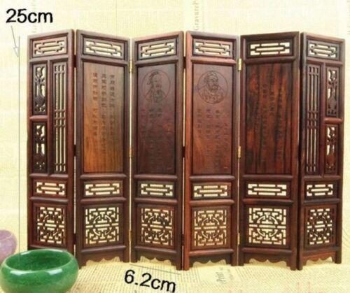Mini Furniture 25 CM High Red Suanzhi Mini 6-Panel MF048 Folding Screen