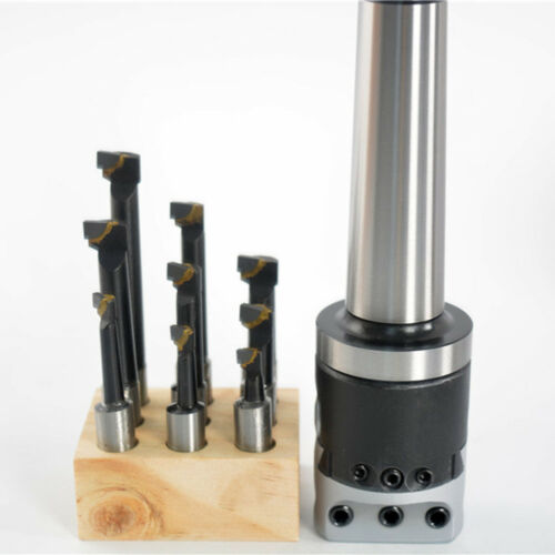 "9pcs 1//2/"" carbide boring bars with MT4 M16 1-1//2-18 MOUNT 2/"" boring head"