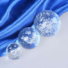 2pcs Clear Crystal Glass Ball Sphere ORB With Bubbles Ornament Home Decoration
