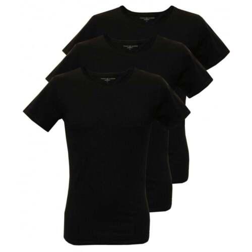 Noir Tommy Hilfiger 3-Pack Premium à encolure ras-du-cou T-shirts Hommes