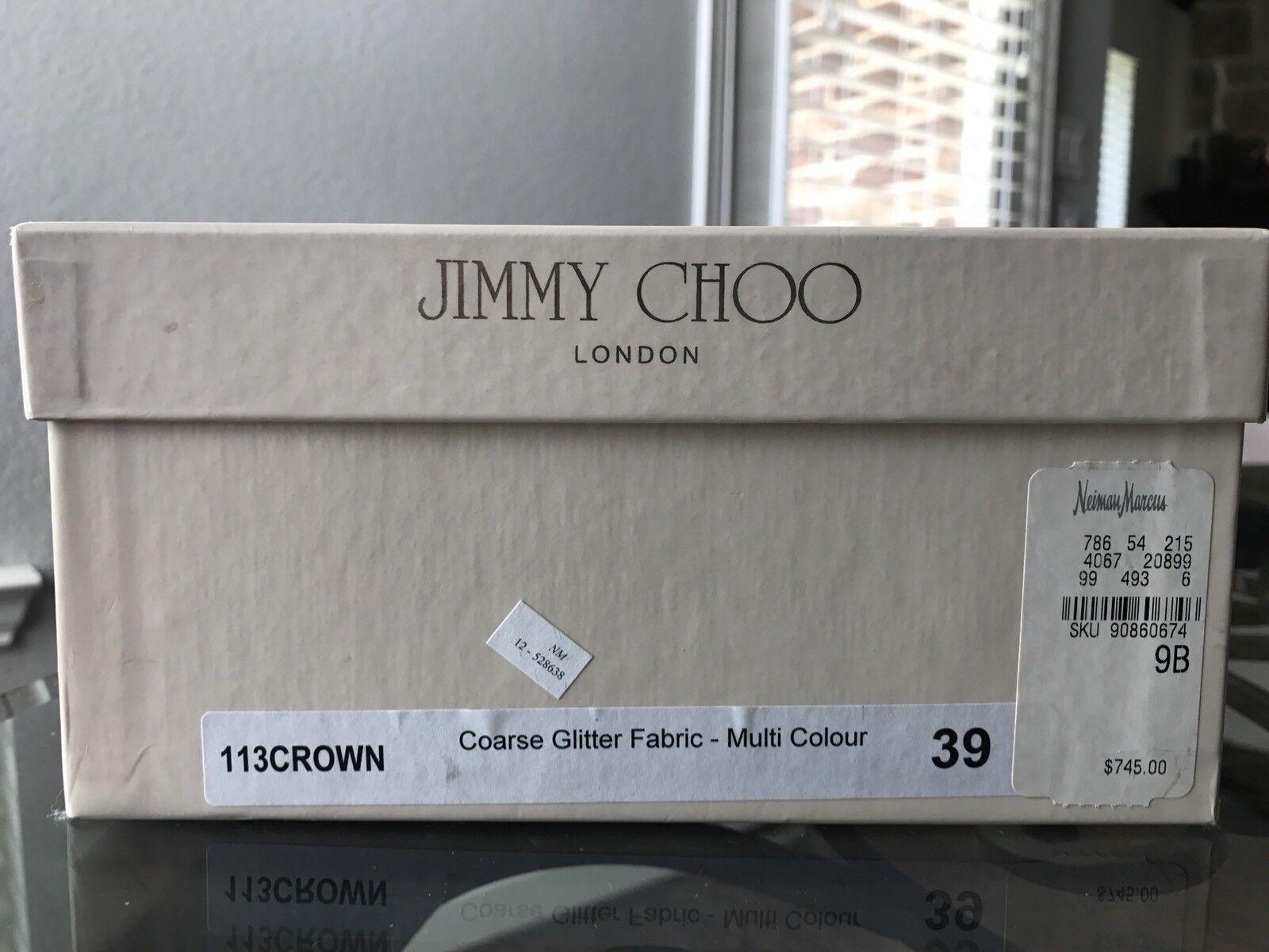 Jimmy Jimmy Jimmy Choo Grueso Brillo MultiColor Plataforma Stiletto auténtico talla-39 (US-9 7f7614