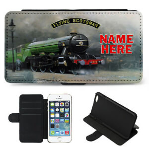 the latest 42007 d6dbc Details about Personalised iPhone Case FLYING SCOTSMAN Cover Flip Wallet  Phone Train FST01