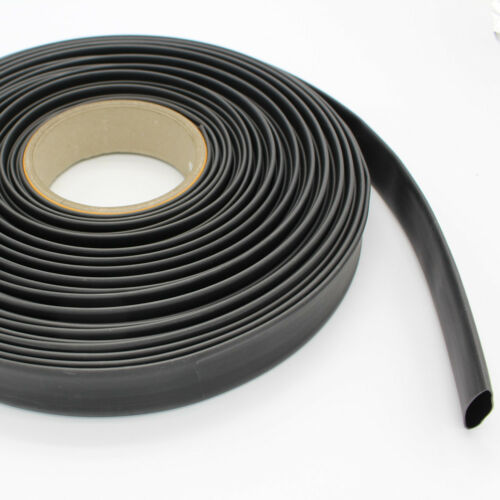 3//4/'/' Adhesive Glue Electrical Connection 3:1 Ratio Heat Shrink Tubing Black 5M