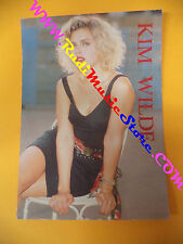 CARTOLINA PROMOZIONALE POSTCARD KIM WILDE 1988 Anabas 12x17 cm no*cd dvd lp mc