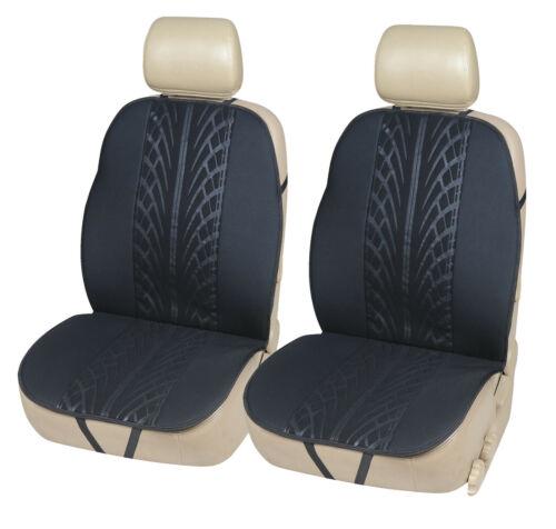 2 fundas de asiento cojines de asiento cojín de asiento auto cobertor de asiento para sitzauflieger negro