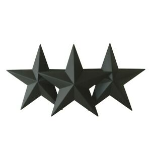 Rustic-Vintage-Black-Metal-Barn-Star-12-Inch-Home-Wall-Door-Decor-Gifts-Set-of-3