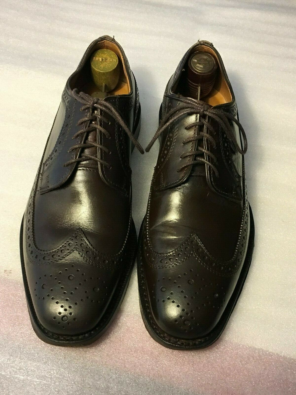 Allen Edmonds men's  LEIDEN  Oxfords sz 8 D Dark Brown (048)