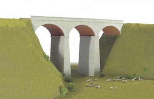 Wills - SS80 - OO Gauge Three Arch Viaduct Plastic Kit