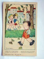 MARIAPIA bambini tango autunno vecchia cartolina