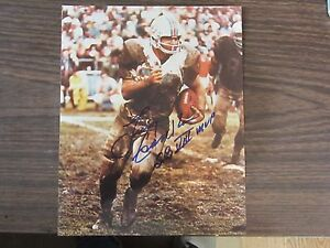 34031a52a8c Larry Csonka Autograph   Signed 8 x 10 photo Miami Dolphins SB VIII ...