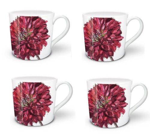 4 x Madeleine Floyd Mug Quality Designer Mugs Summer Garden Dhalia 71549