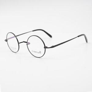 d2beb839b Image is loading 42mm-Luxury-Vintage-100-Pure-Titanium-Round-Eyeglasses-