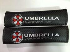 2pcs Black Auto Seat Belt Cover Pads Shoulder Cushion Umbrella