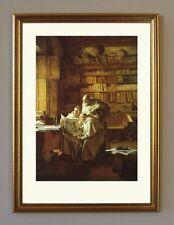 Grützner Kunst und Eros um 1892 Büttenfaksimile von Ölgemälde 2 im Goldrahmen