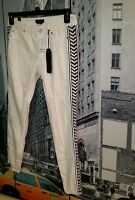 Sold Out Bebe Shogun Escape Ivory Boho Hippie Aztec Tuxedo Skinny Jeans 27