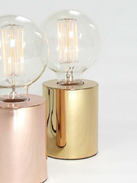 Sil rose gold table lamp light modern contemporary designer with sil rose gold table lamp light modern contemporary designer with edison bulb mozeypictures Images