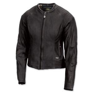 Roland Sands Design Quinn women's black leather biker  Motorcycle Jacket XL HB