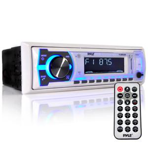 Pyle PLMRB29W Bluetooth Marine Stereio Receiver