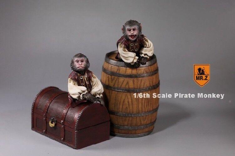 Mr.Z 1 6 6 6 Scale Pirate Monkey Wine Barrel Treasure Box House Model Toy f36d0c
