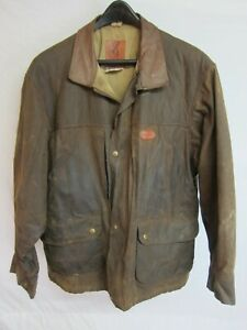 Browning Waxed Cotton Hunting Shooting Coat Or Jacket Size ...