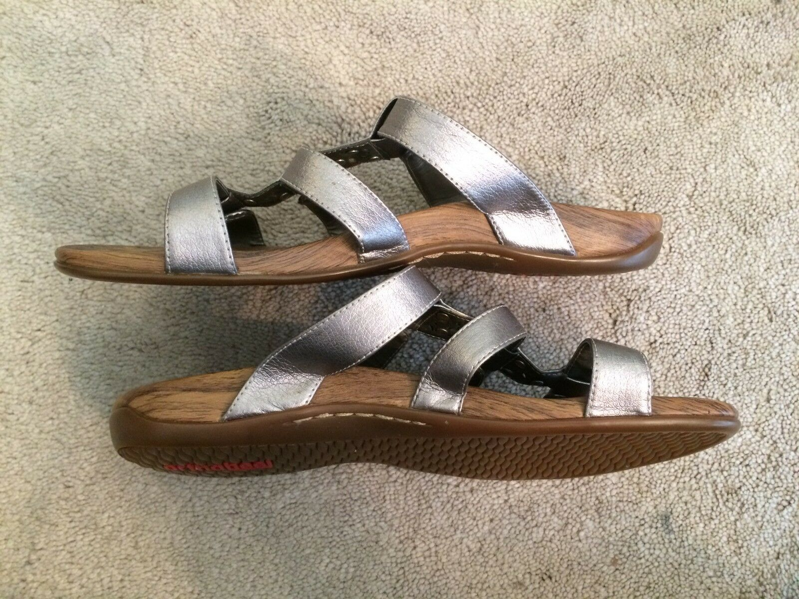 Orthaheel Gray Metallic Sandales - - Sandales 10 b539a9