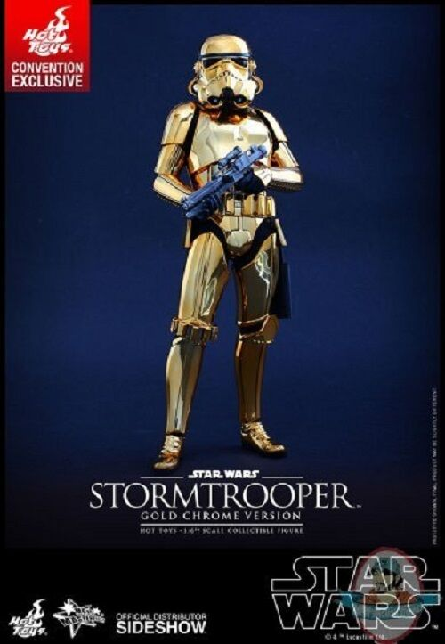 1 6 Star Wars Stormtrooper gold Chrome MMS Exclusive Hot Toys