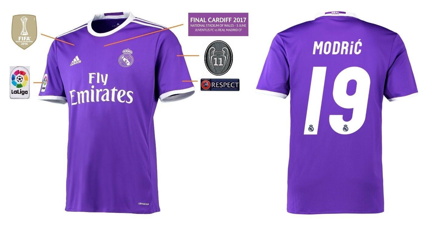 Trikot Real Madrid Away Champions League Final Cardiff 2017 - Modric