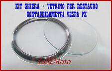 KIT RESTAURO CORNICE E VETRO CONTACHILOMETRI PIAGGIO VESPA PX 125 150 200