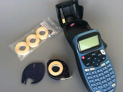 Schriftband 12mmx4m Beschriftungsbänder Drucker Kassette für Dymo Letra Tag X9W6