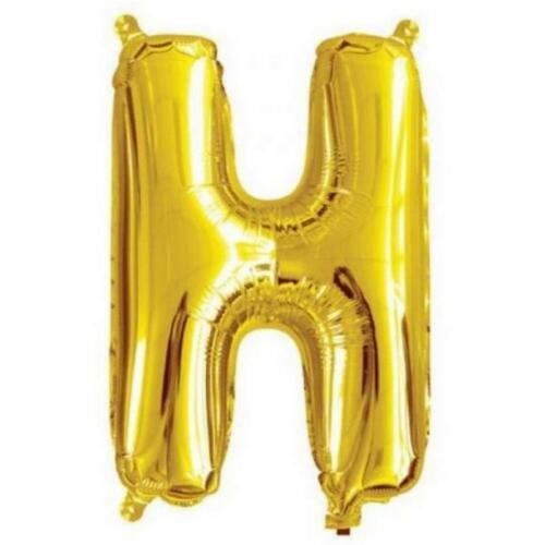 Letter H 40cm Gold Alphabet Air-Filled Foil Balloon