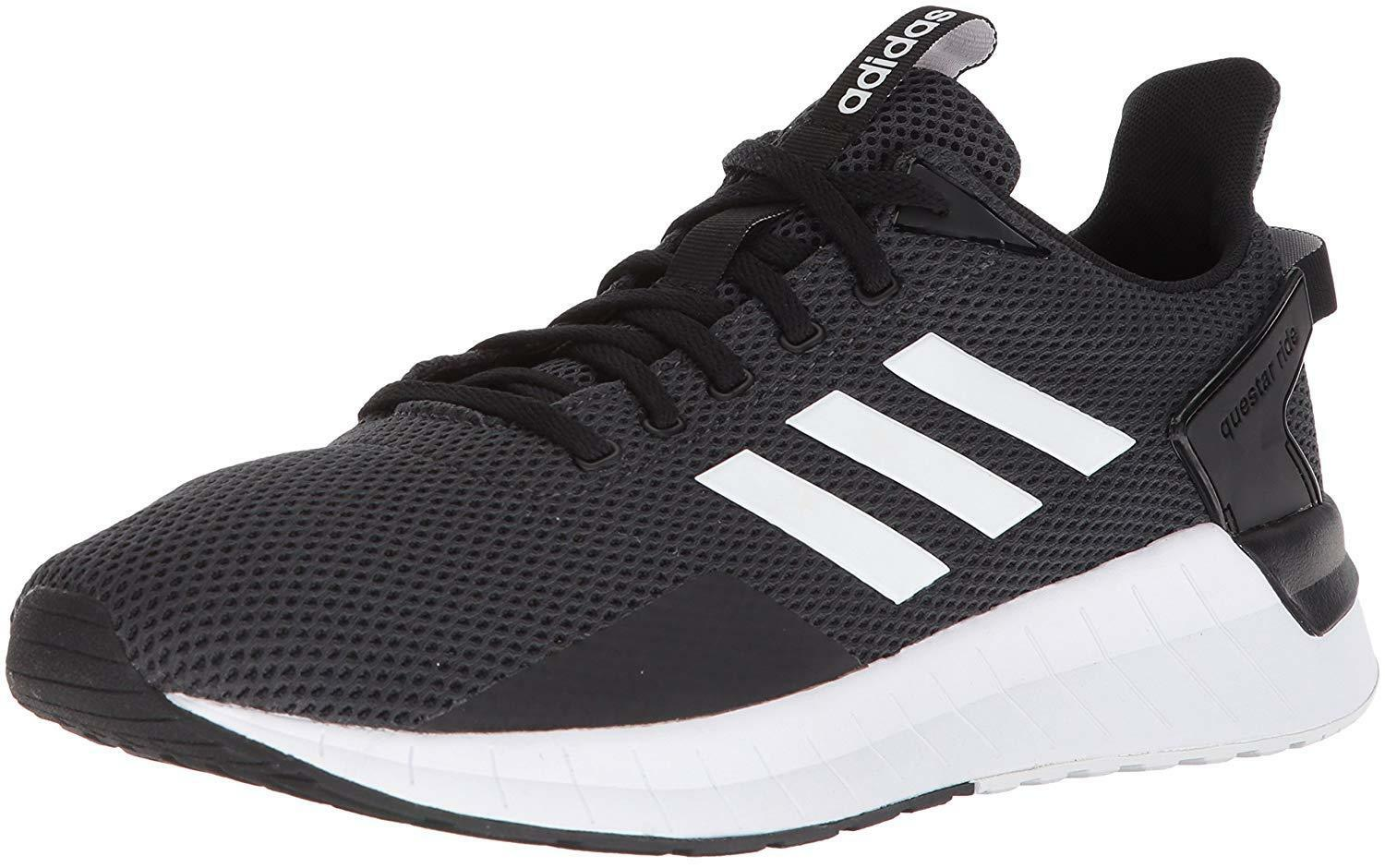 adidas Men's Questar 10.5 Ride Running Shoe, Black/White/Carbon, 10.5 Questar M US 0fc24d