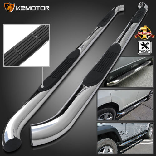 "For 05-19 Tacoma 3/"" Stainless Double Cab Running Board Side Step Bar Nerf Bars"