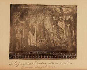 Italia-Mosaici-Basilica-Saint-Vital-Ravenna-Vintage-Albumina-Ca-1880