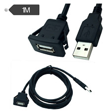1M In-Car USB 2.0 Flush Mount Socket Extension Cable for car boat Motorcycle