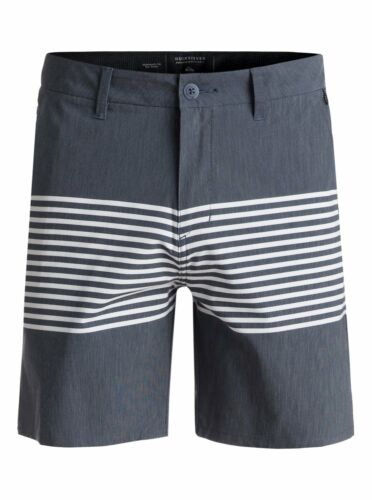 QUIKSILVER MENS SHORTS.ECHO STRIPE AMPHIBIAN 4 WAY STRETCH BOARDIES 8S 98 BYJ6