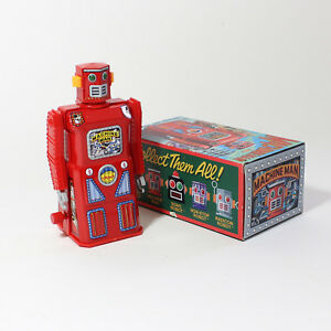 """Toy Robot from The Gang of Five Series """"Machine Man Robot"""" wind up Robot NEW"""