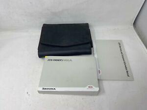 2016 Kia Sedona Owners Manual Handbook Set with Case OEM Book00176