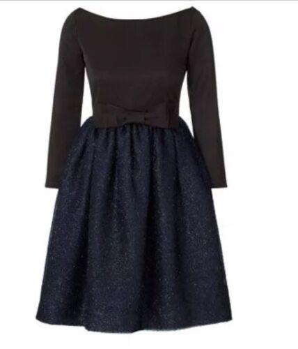 Nouvelle Noël idéale Orla pour de étincelante soirée Kiely marine robe taille 8 r4q7Pr