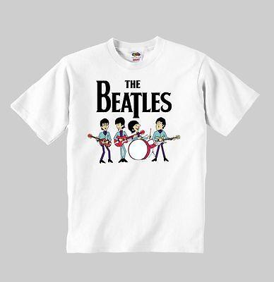 the beatles cartoon t-shirt mod:3 t shirt toddler clothing boy girl Children kid