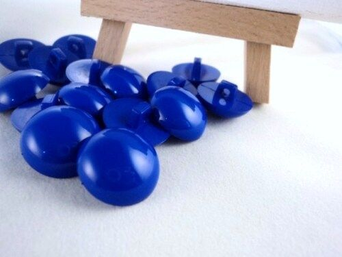 B3-18mm 10pcs LITTLE HALF BALL DOME SHAPED SHANKED PLASTIC BUTTONS-MANY COLOUR