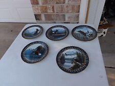Bradford Exchange 5 Plates. Where the Eagles Soar.