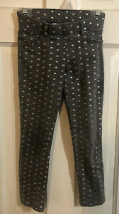 Jumping-Beans-Girls-Gray-with-Silver-Hearts-Jeggings-Pants-Leggings-Size-5