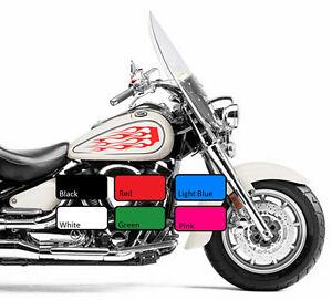 2-x-Flame-117-Fuel-Tank-Fire-Vinyl-Motorcycle-Motor-Decal-Sticker-Motorbike-Bike