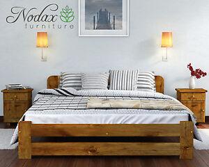 Nodax Super King Size Bed 6ft Wooden Bedframe Headboard Footboard