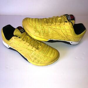 Reebox-Mens-CrossFit-Nano-3-0-V59936-Size-10-5-CF74-Yellow-Black-UK-9-5-EUR-44