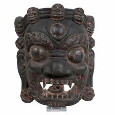 El tíbet siglo 20.. máscara de madera-a Tibetan carved wood ritual Mask-tibetano tibétain