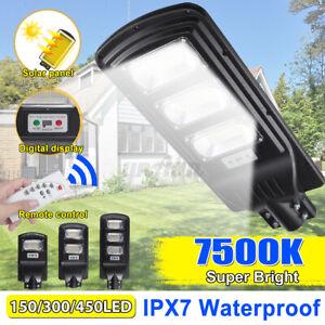 900-1900W-LED-Lampione-Stradale-Faro-LED-Pannello-Solare-Telecomando-Sensor-Luce