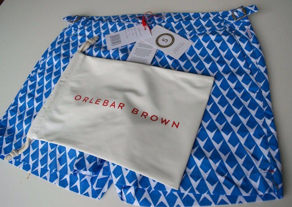 SystéMatique Nouveau Homme Orlebar Brown Setter Short Bleu Taille 30 Avec Sac Authentique. Les Catalogues Seront EnvoyéS Sur Demande